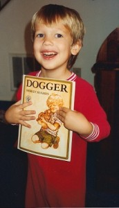 My son, Dan, with one of his favorite books, circa 1993